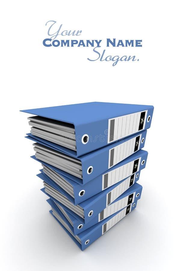 boucle bleue de pile de cahiers illustration stock