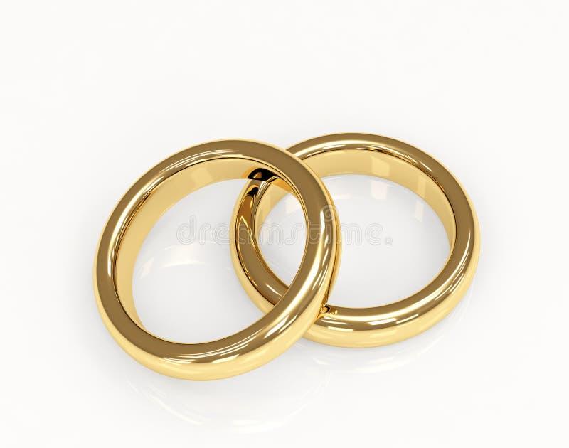 boucle d'or 3d deux wedding illustration libre de droits