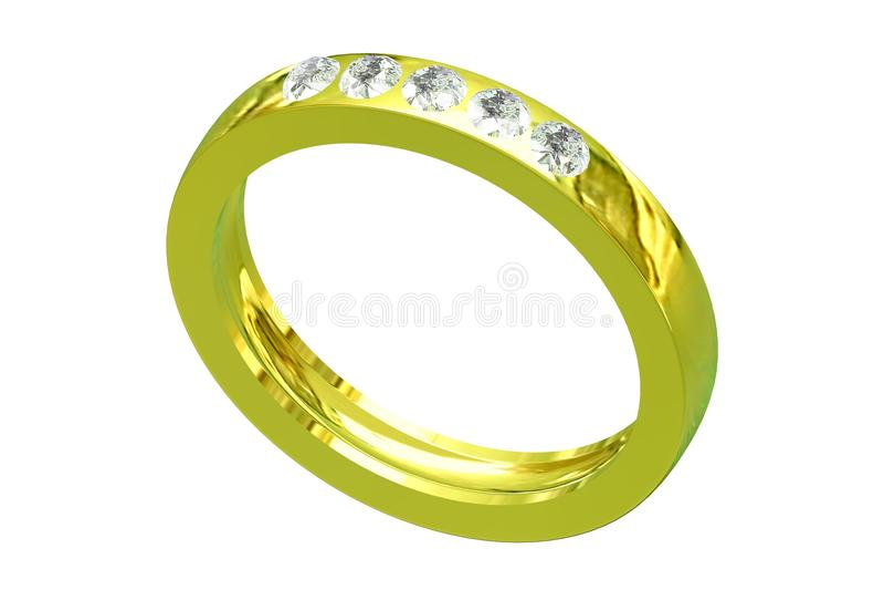 Boucle d'or de mariage illustration libre de droits