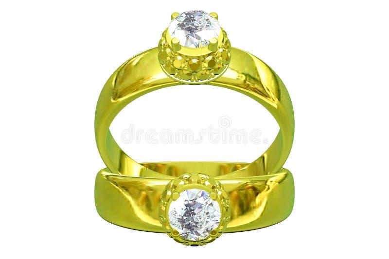Boucle d'or de mariage illustration de vecteur