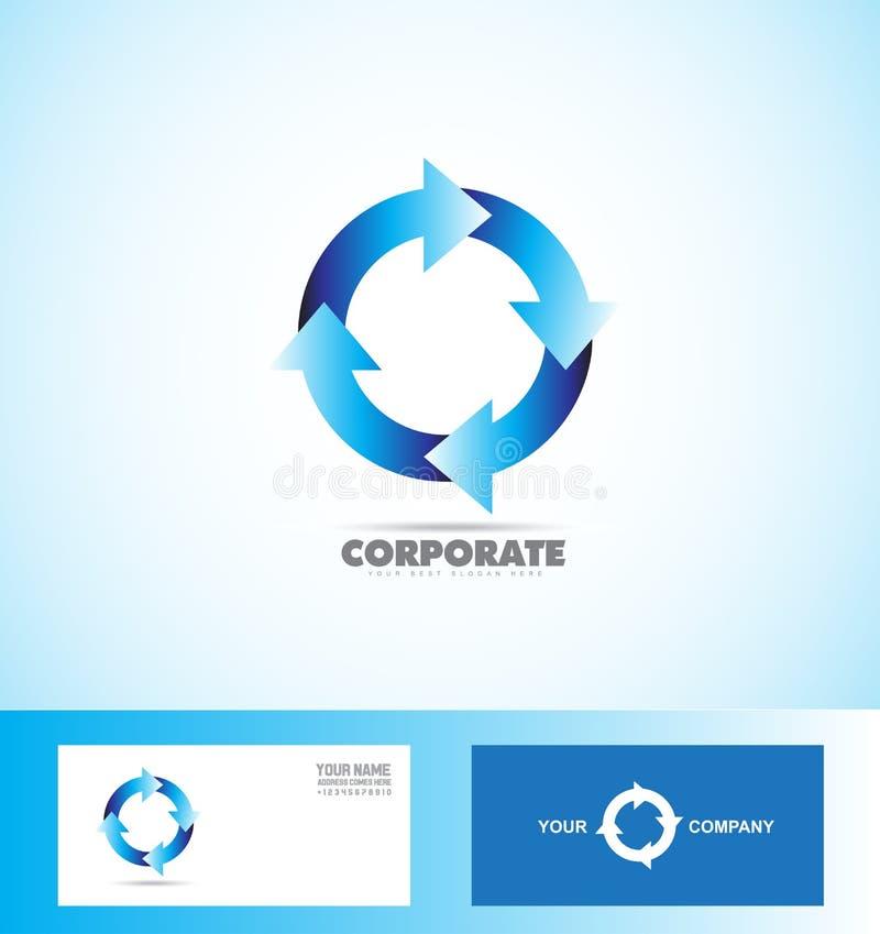 Boucle d'entreprise de logo de cercle de flèche sans couture illustration de vecteur