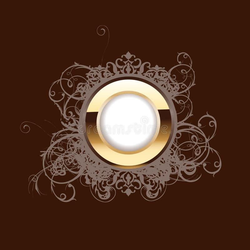 Boucle d'or fleurie élevée illustration de vecteur