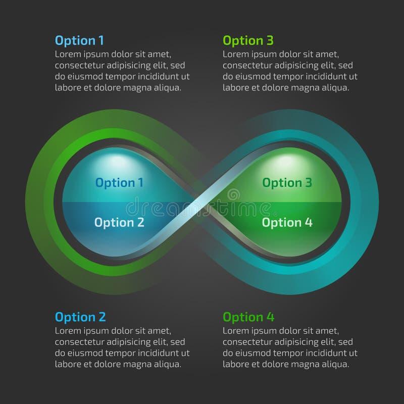 Boucle d'infini de nature de baisse de l'eau d'Eco infographic illustration de vecteur
