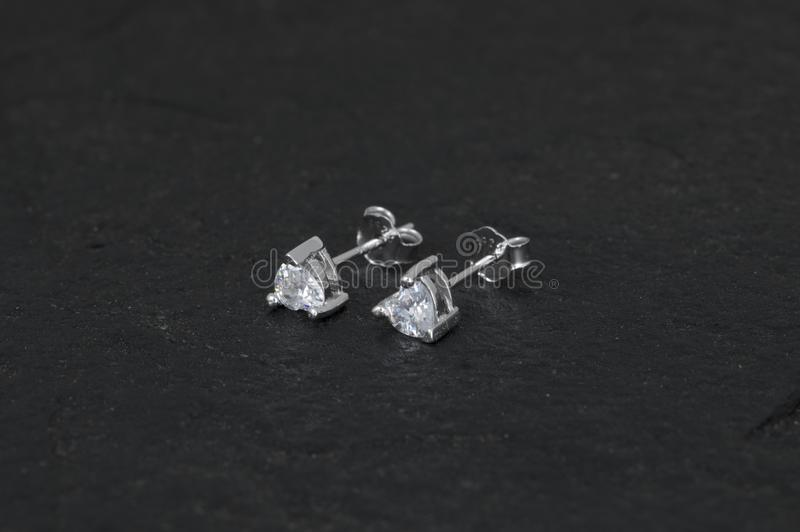 Boucle d'oreille de Daimond photo stock