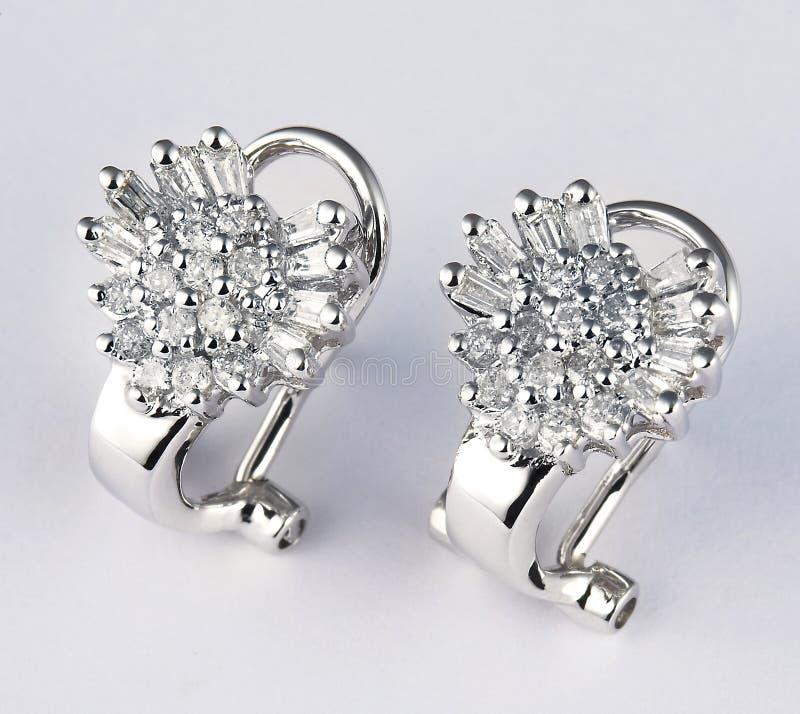 Boucle d'oreille de diamant image stock