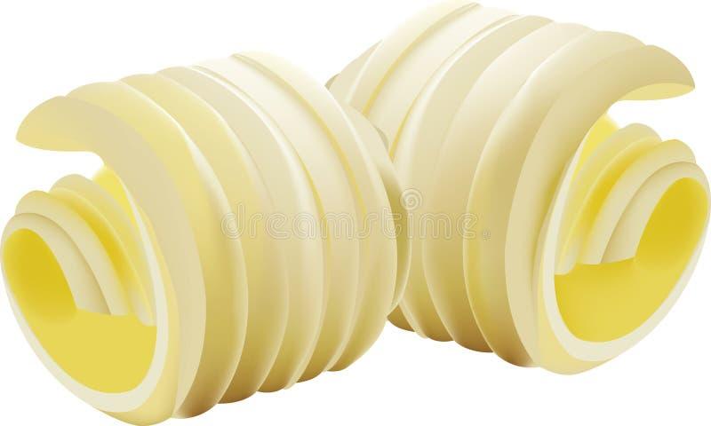 Boucle de beurre organique frais illustration libre de droits