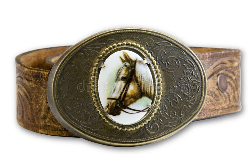 Boucle de courroie de cheval images libres de droits