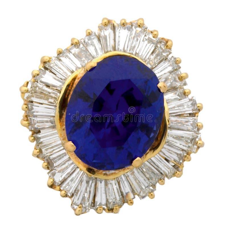 boucle de diamant amethyst photographie stock libre de droits