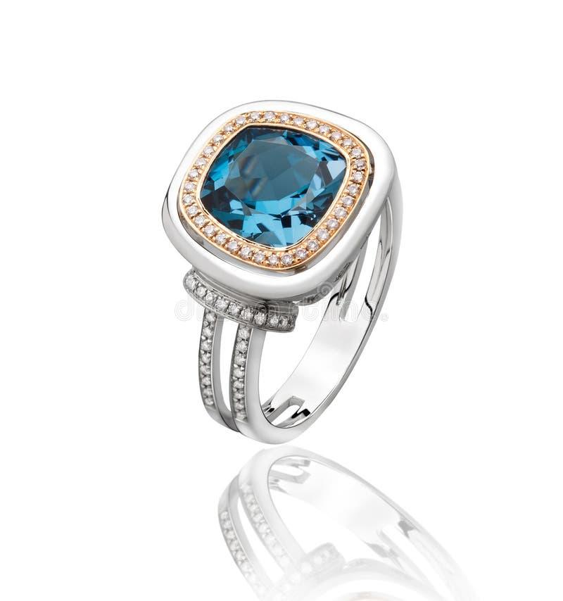 Boucle de diamant de saphir photo libre de droits