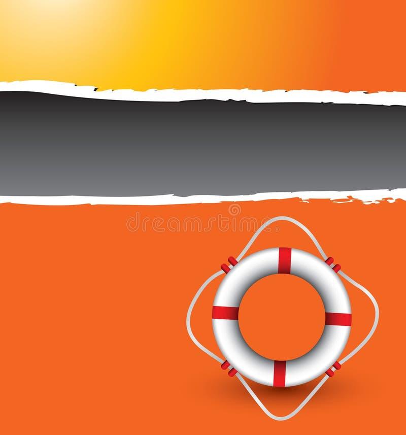 Boucle de durée sur le drapeau déchiré orange illustration stock