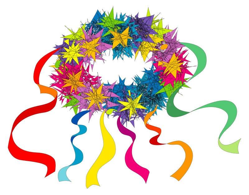 Boucle de fleur avec des bandes photo libre de droits