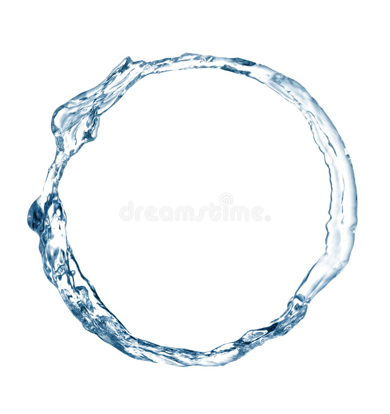 Boucle de l'eau images libres de droits