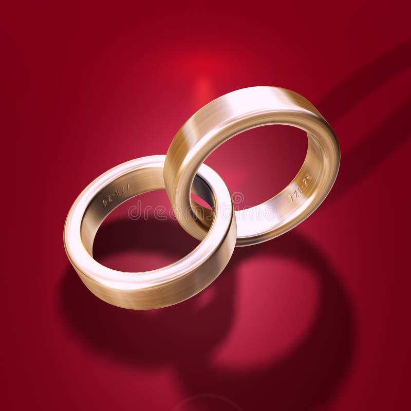 Boucle de mariage illustration stock