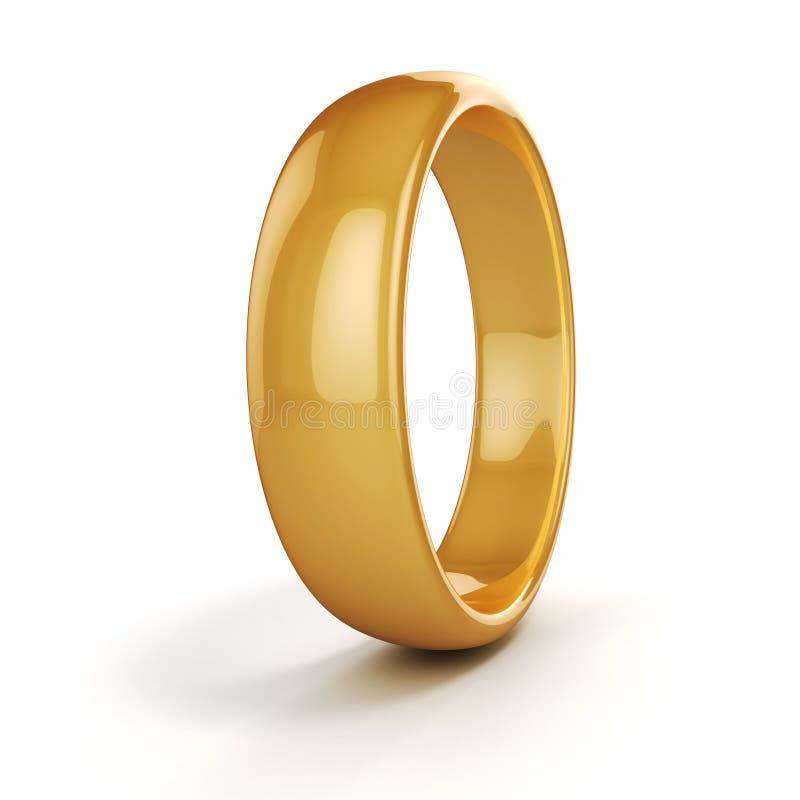 boucle de mariage de l'or 3d illustration de vecteur