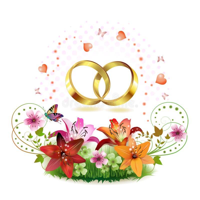 Boucle de mariage deux illustration libre de droits