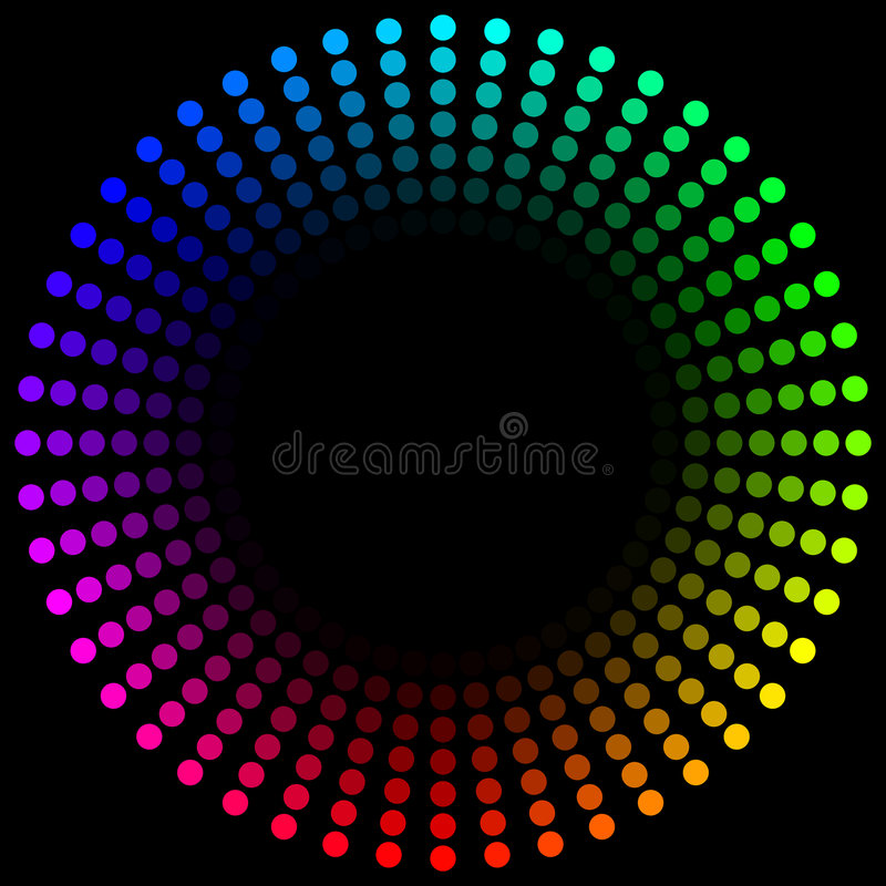 Boucle de spectre illustration de vecteur
