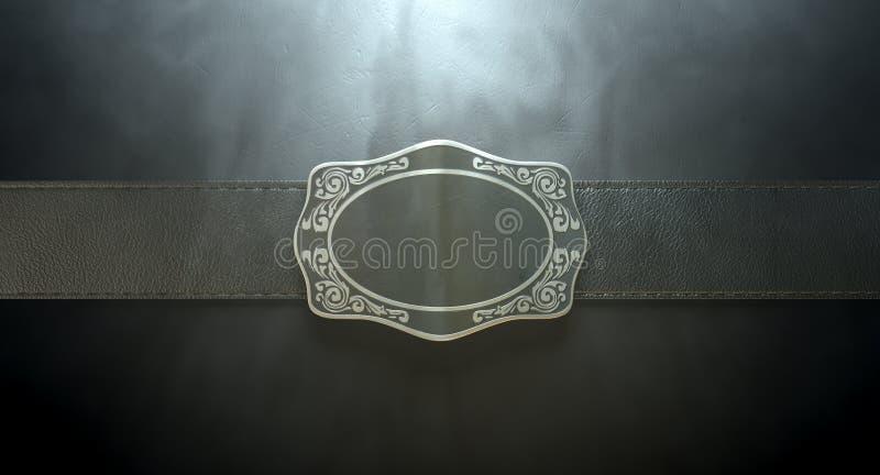 Boucle et cuir de ceinture photographie stock