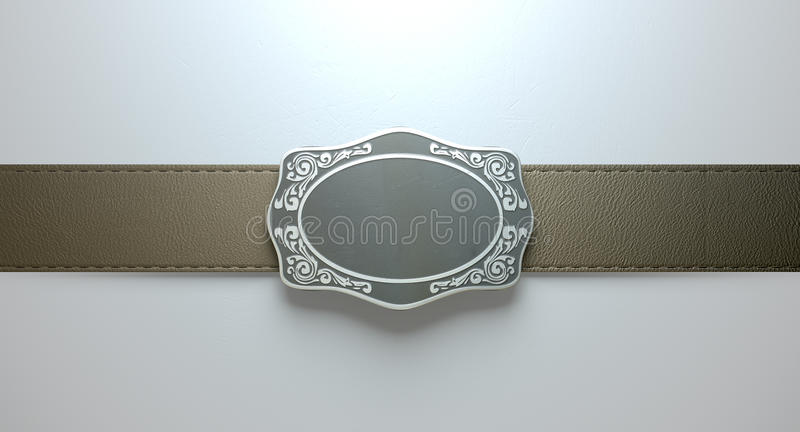 Boucle et cuir de ceinture photo libre de droits