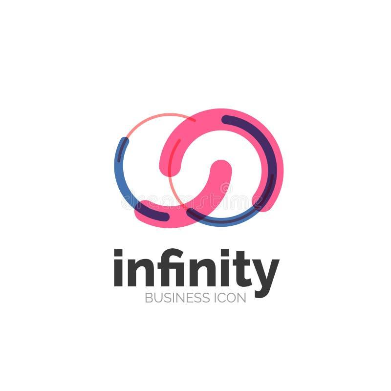Boucle, icône d'affaires d'infini illustration de vecteur