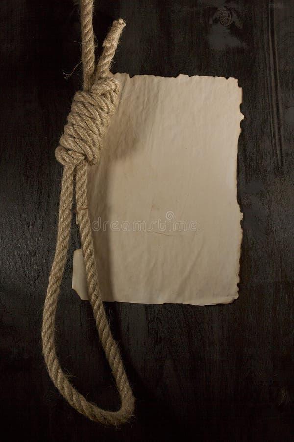 Boucle nouée par corde image stock