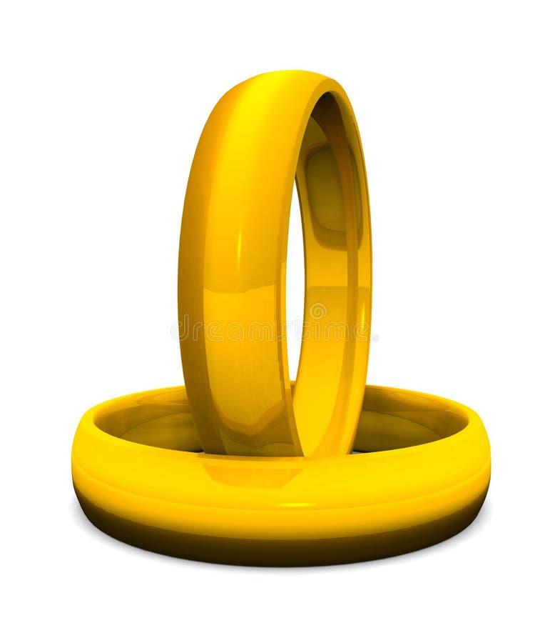 boucles 3D d'or pour le mariage 02 illustration de vecteur