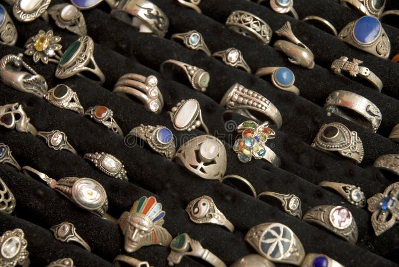 Boucles argentées image stock