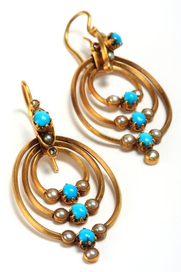 Boucles d'oreille Antic, bijou image libre de droits