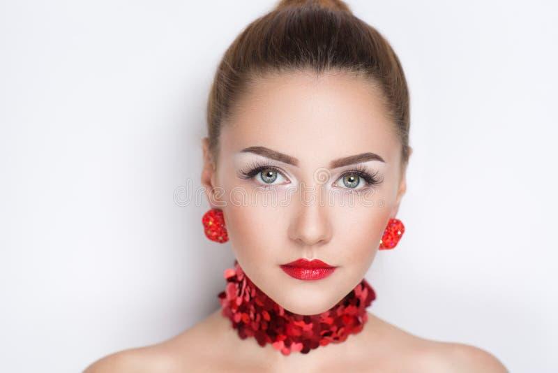 Boucles d'oreille de collier de bijoux photos libres de droits