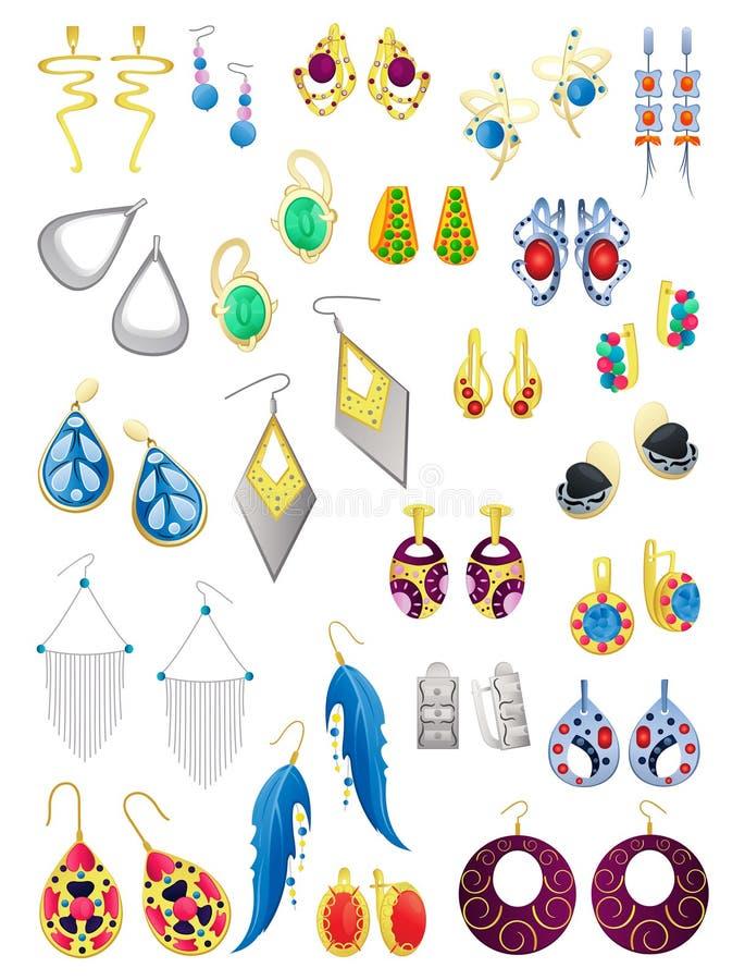 Boucles d'oreilles illustration stock