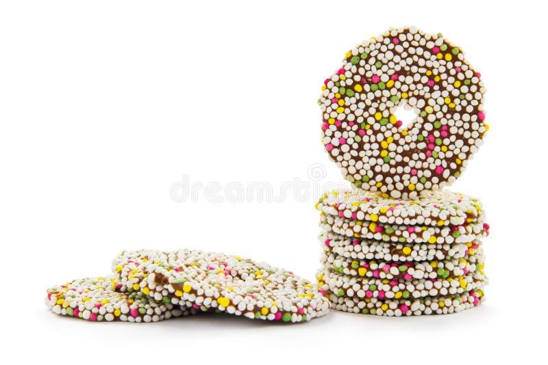 Boucles de chocolat image libre de droits
