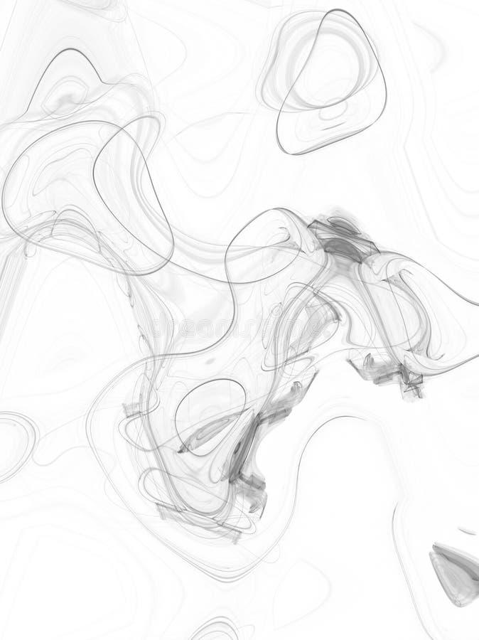 Boucles de fumée illustration de vecteur