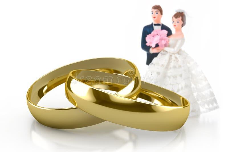 Boucles de mariage illustration de vecteur