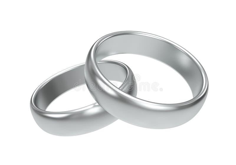 Boucles de mariage argenté illustration libre de droits