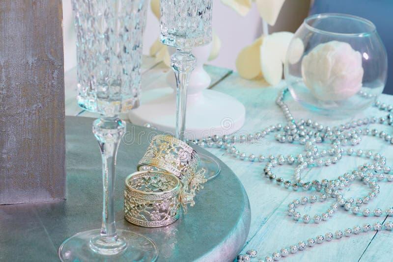 Boucles de mariage Carte de beauté images libres de droits