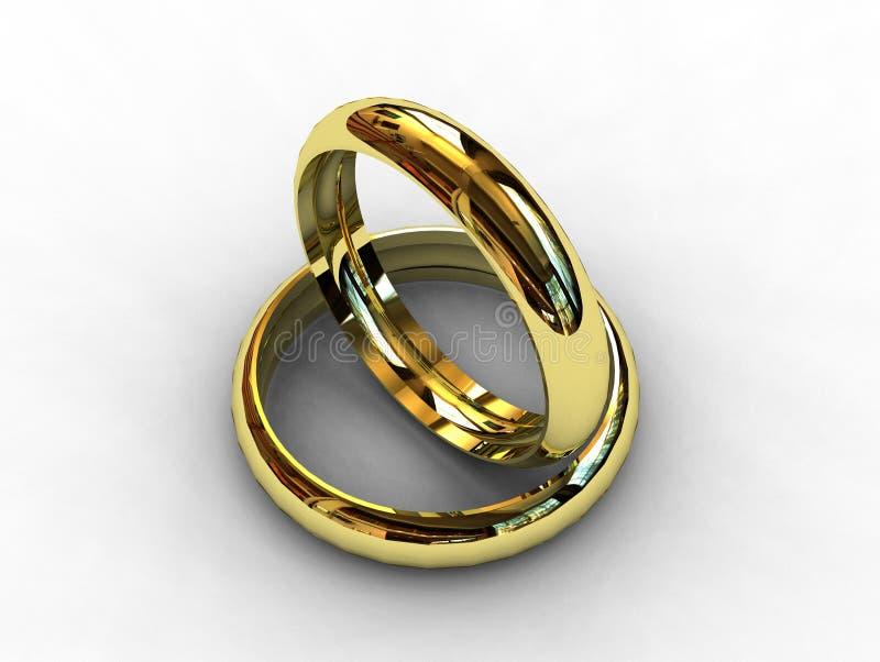 Boucles de mariage classiques de platine illustration libre de droits