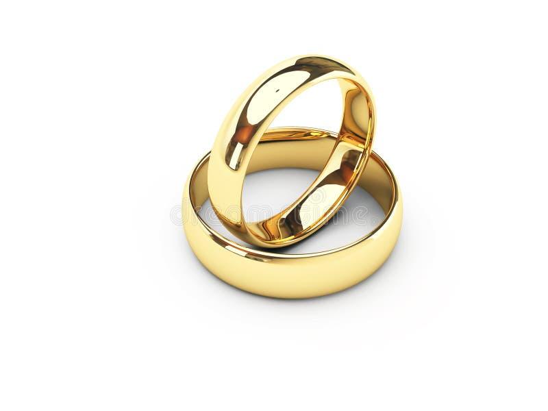 Boucles de mariage d'or illustration libre de droits