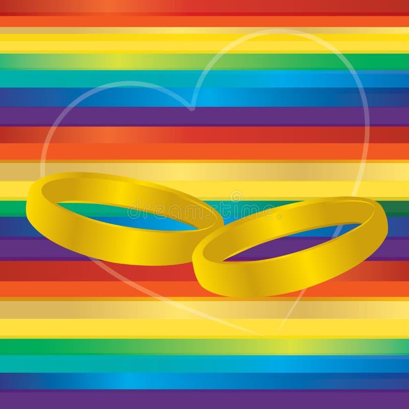 Boucles de mariage homosexuel illustration de vecteur