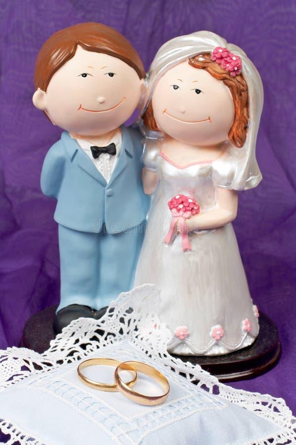 Boucles De Mariages Et Les Couples Images libres de droits