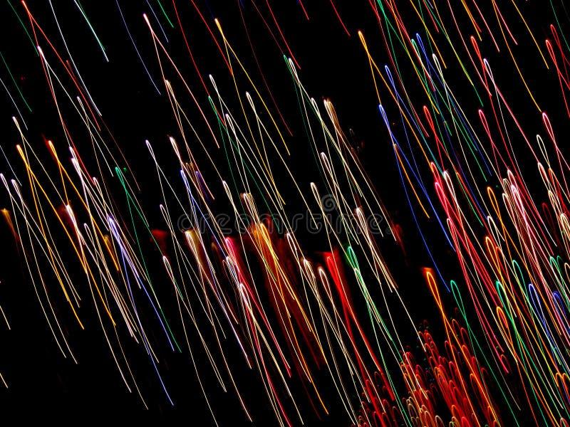 Boucles de néon de vol photo libre de droits