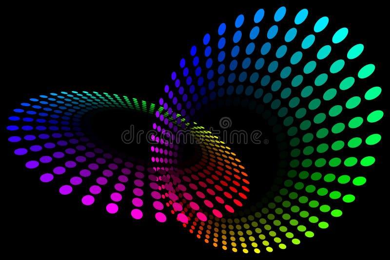Boucles de spectre illustration de vecteur