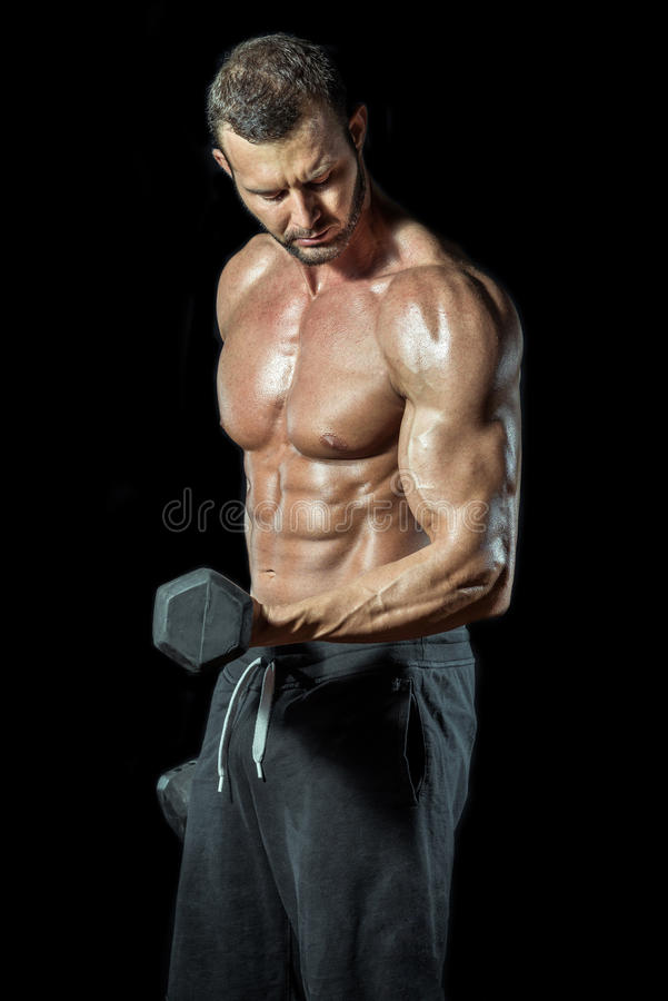 Boucles debout de biceps photo stock