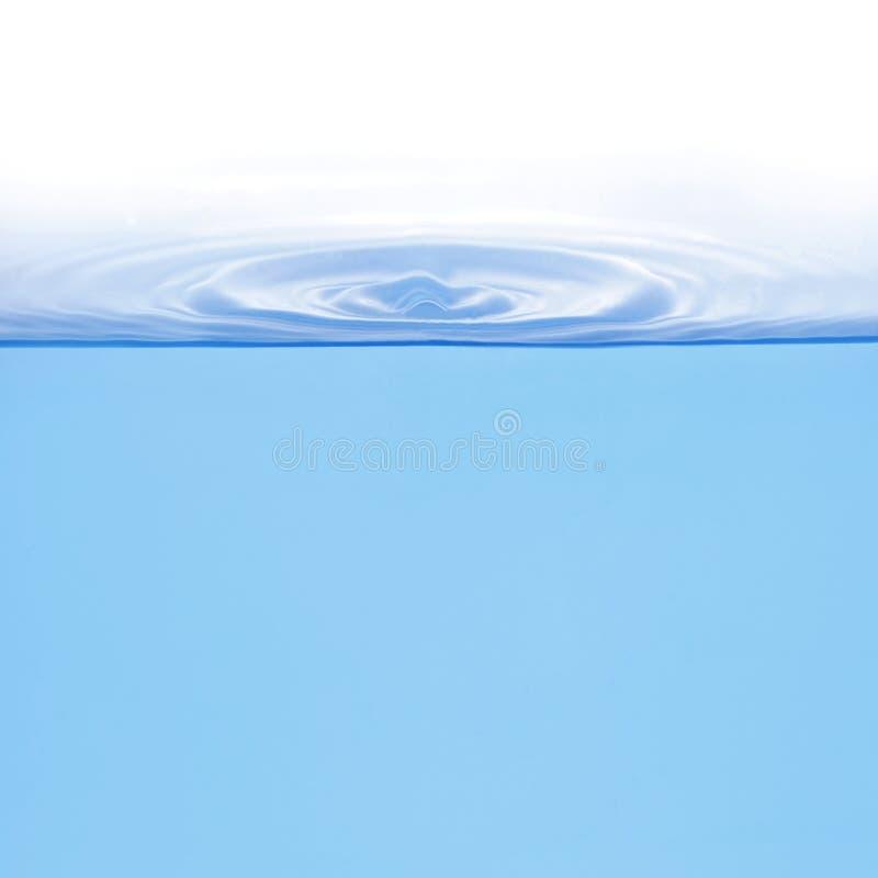 Boucles sur l'eau d'isolement photographie stock