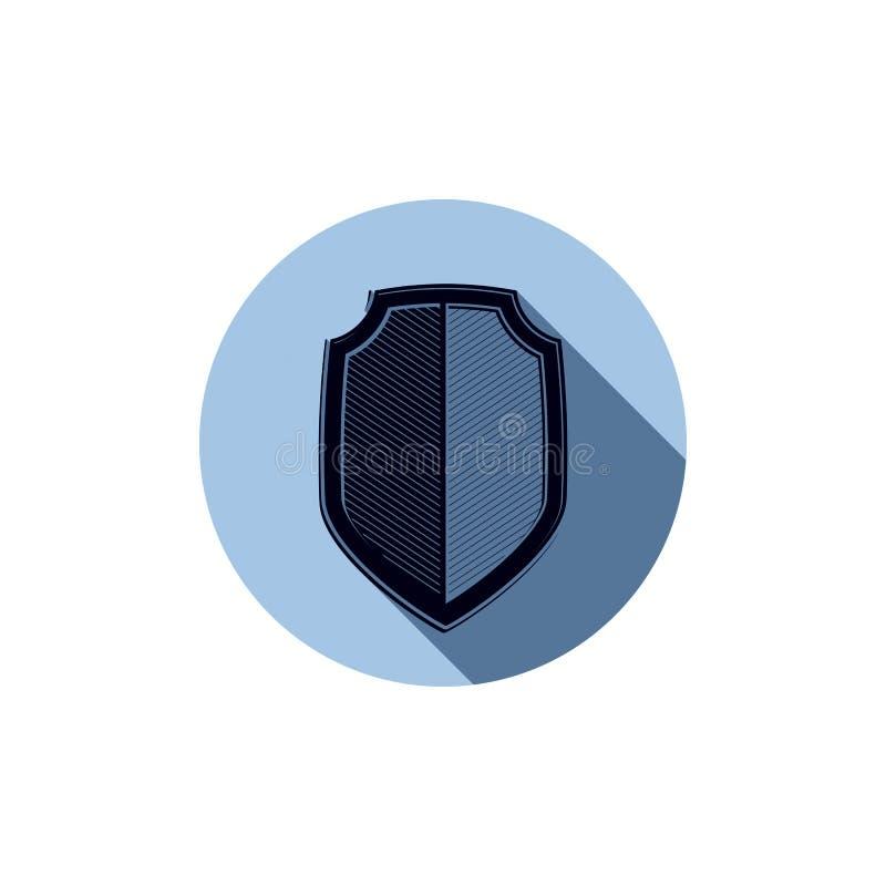 Bouclier élégant de la défense, élément de conception graphique d'idée de protection illustration de vecteur