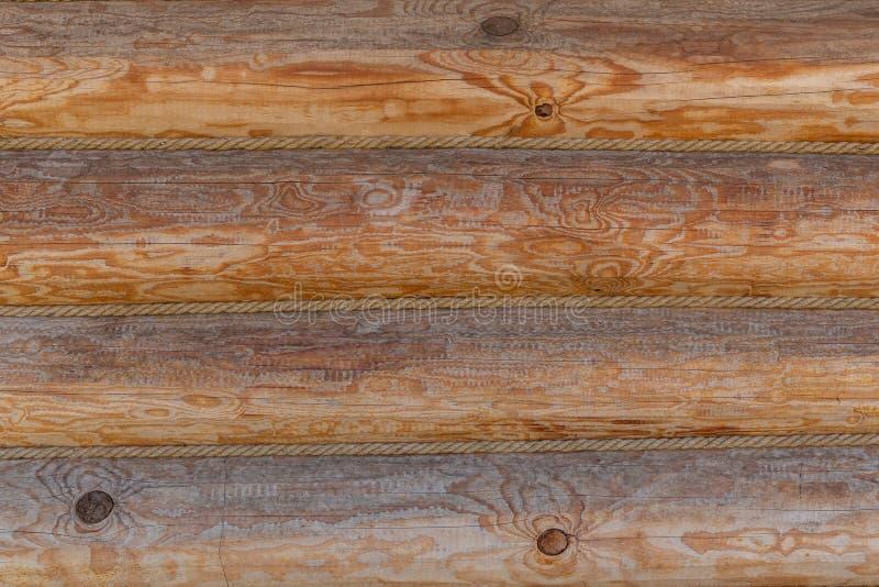 Bouclier avec un grand nombre de rondins en bois parallèles images libres de droits