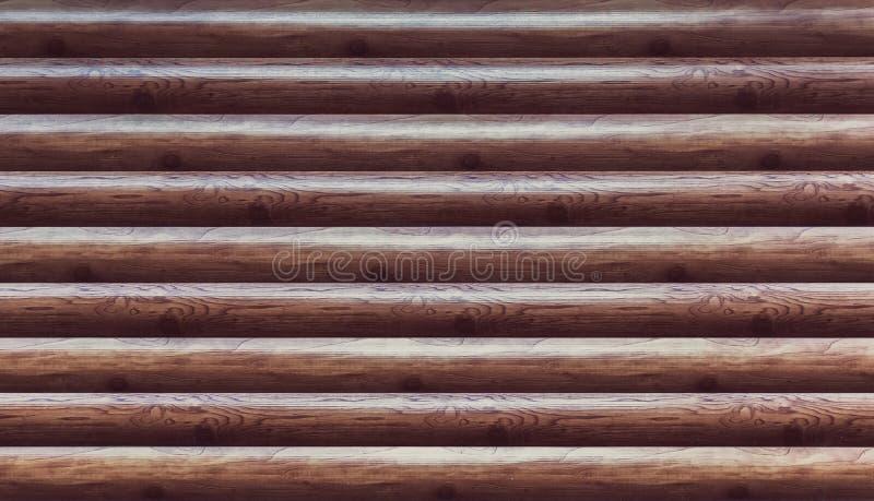 Bouclier avec un grand nombre de rondins en bois parallèles image libre de droits