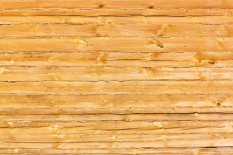 Bouclier avec un grand nombre de texture en bois parallèle de rondins photographie stock