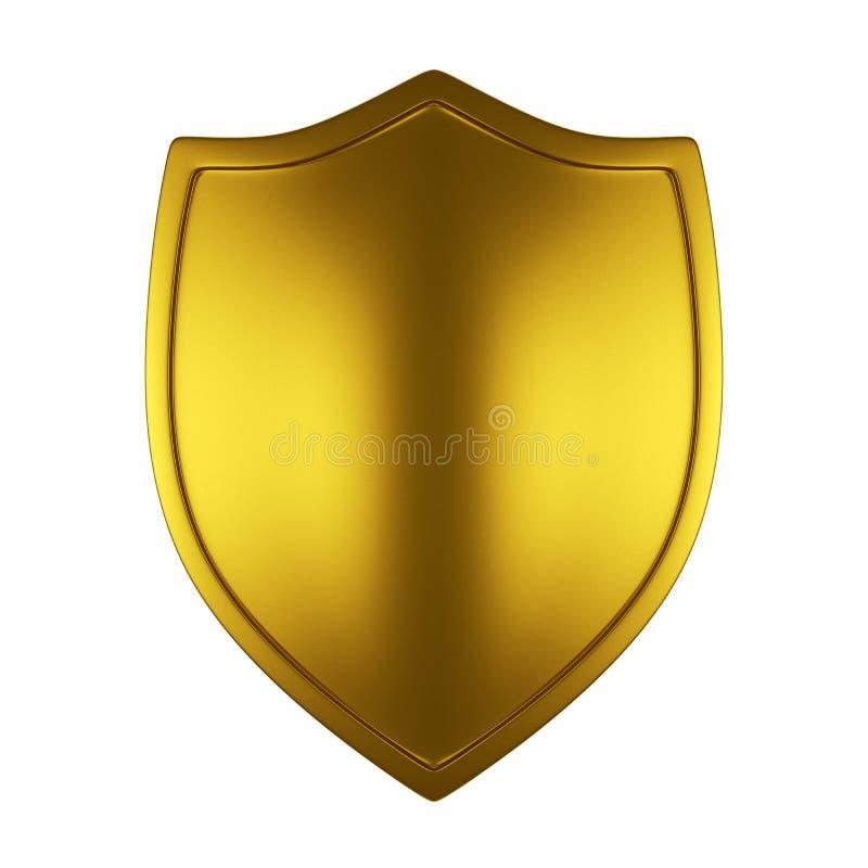 Bouclier d'or illustration de vecteur