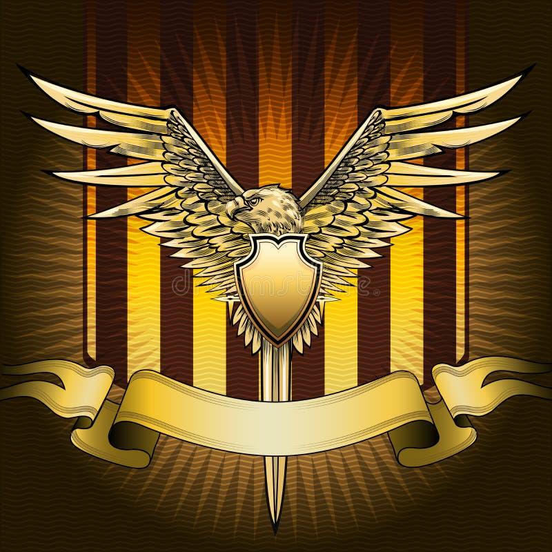 Bouclier d'Eagle illustration de vecteur