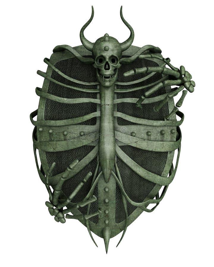 Bouclier d'horreur illustration de vecteur