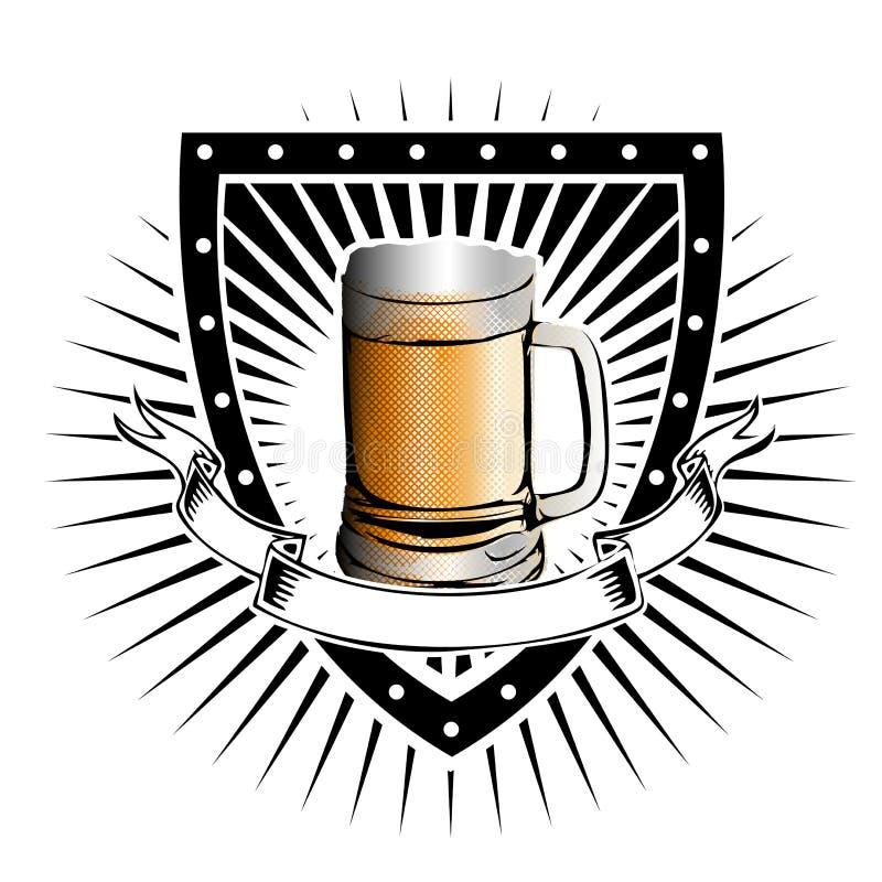 Bouclier de bière illustration libre de droits